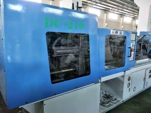 Hwa Chin 210t ڈبل رنگین استعمال شدہ انجکشن مولڈنگ مشین۔