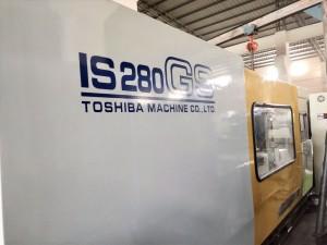 توشیبا 280t IS280GS (V21 کنٹرول) استعمال شدہ پلاسٹک انجکشن مولڈنگ مشین۔